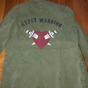 New RARE Gypsy Warrior Green Military Jacket